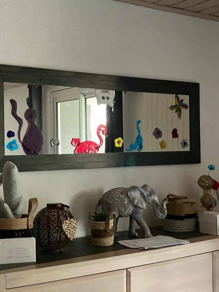 miroir chez la cliente